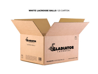 Gladiator Lacrosse® Case of 120 Official Lacrosse Game Balls – White – Meets NOCSAE Standards, SEI Certified