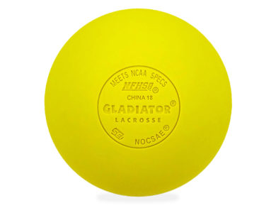 Gladiator Lacrosse® Pack of 6 Fully Certified, Official Lacrosse Game Balls – Yellow – Meets All Standards