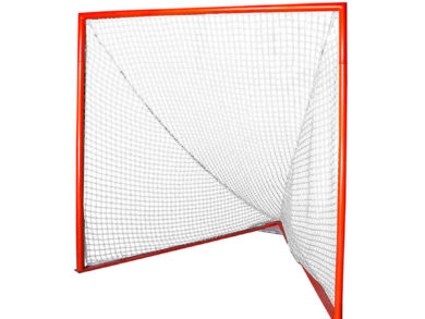 Pair (2) of Gladiator Lacrosse® Professional Lacrosse Goals with 6mm White Nets included, Orange, 6 x 6 x 7 Foot